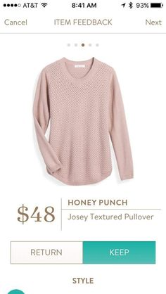 Love this sweater - maybe another color though