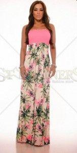 Rochii-de-Ocazie-Ieftine-Multicolor-Rochie-MissQ-maxi-Roz-Multicolor Women's Fashion, Floral, Dresses, Vestidos, Fashion Women, Womens Fashion, Flowers, Dress
