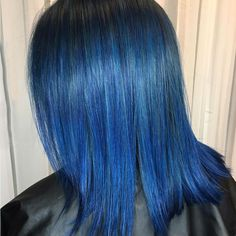 awesome 25 Fabulous Dark Blue Hair Ideas - Using Your Hair to Brighten Your Looks Check more at http://newaylook.com/best-dark-blue-hair-ideas/