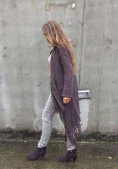 BOHO Fringe sweater coat by ileaiye on Etsy, $210.00