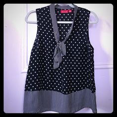 Sheer polka dot top Perfect to dress up or down, wear to the office or out for drinks. Perfect for summer! Sized small but could fit a medium as well. Elle Tops Blouses