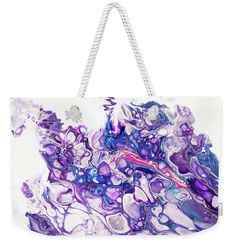 Fluid Acrylic Purple Fantasy Weekender Tote Bag x by Jenny Rainbow. The tote bag includes cotton rope handle for easy carrying on your shoulder. All totes are available for worldwide shipping and include a money-back guarantee. Fluid Acrylics, Weekender Tote, Cotton Rope, Bag Sale, Tote Bags, Totes, Handle, Rainbow, Fantasy