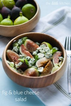 Fig & Blue Cheese Salad - I love figs