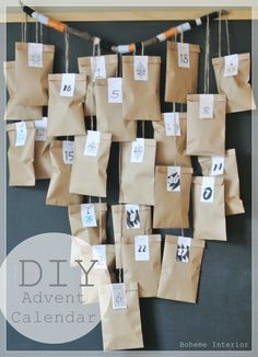 DIY joulukalenteri, diy advent calendar, Diy Advent Calendar, Easter, Holiday Decor, Diy Ideas, Christmas, Gifts, Holidays, Christmas Cards, Noel