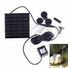 Solar Power Landscape Fountain Sight Water Pump Panel Kit Fountain Pool Garden Pond Submersible Watering