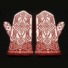 Ravelry: The Spear Maiden's Heart Mittens pattern by Erica Mount