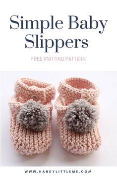 Baby slippers knitting pattern