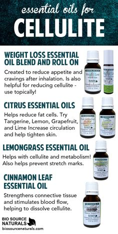 Use these essential oils and blends with cellulite! #aromatherapy