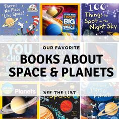 """A list of our favorite books about planets and the letter p. This fun collection of books about planets and outer space will help you reinforce the """"p"""" sound. Repin and click through to learn more about these fun books. #preschoolathome #booksaboutplanets #pisforplanet #learntoread #preschoolbooks #letterp #letterppreschoolactivities #preschoolactivities #preschool #readingtodiscover Pre-school Books, Space Books, Space Activities, Alphabet Activities, Educational Activities, Preschool Literacy, Preschool At Home, Preschool Ideas, Planet Books"""