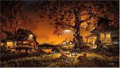 Looks just like home.  Terry Redlin Twilight Time