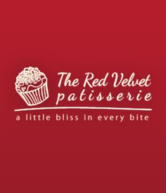 Red Velvet Patisserie Logo design.