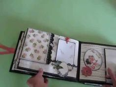 YouTube Mini Photo Albums, Mini Albums Scrap, Mini Scrapbook Albums, Book Crafts, Paper Crafts, Tutorial Scrapbook, Round Robin, Bookbinding Tutorial, Handmade Books