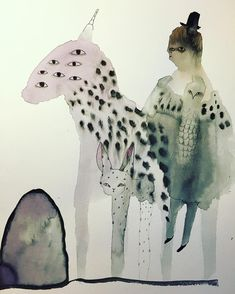 watercolor by @zebrakadebra