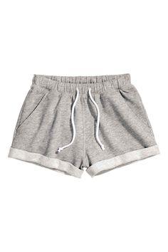 Sweatshirt shorts - Grey marl - Ladies   H&M GB