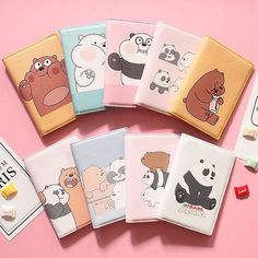 Cheap business card holder, Buy Quality card holder directly from China card holder business Suppliers: Bear Animal Cartoon Print Passport Bag Cover Girls Card Holder Women Business Ticket Pouch Packages Lady Passport Cover Bentoy Cheap Business Cards, Business Card Holders, Cool School Supplies, College School Supplies, Pouch Packaging, We Bare Bears Wallpapers, Cute Stationary, We Bear, Cute Notebooks