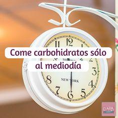 Come carbohidratos sólo al mediodía #Fitness #VidaSana #DARAGourmet