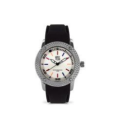 Reloj yess dama plateado