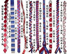 How to Make Homecoming Mums Garters and Braids different homecoming mum braids, the Military braid I would like due with different blues so it has a touch of the navy in it? Homecoming Mums Senior, Football Homecoming, High School Homecoming, Homecoming Corsage, Homecoming Ideas, Senior Year, Homecoming Dresses, Homecoming Spirit, Graduation Photoshoot