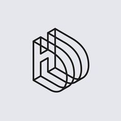 the lines create a 3 dimensional appearance to the logo