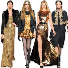 top fashion trends: black & gold - Fall Fashion Trends  InStyle #kendrascott #teamKS