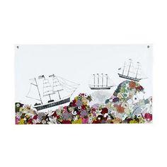 Kids Art Prints: Katie Vernon Sail the Ocean Banner in Unframed Wall Art