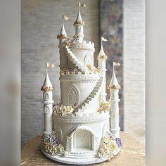 #castlecake #engagementcake #birthdaycake #lenovelle #lenovellecake #lenovellebali #handcrafted #sugarart #sugarflowers #beautyandthetaste Castle Wedding Cake, Big Wedding Cakes, Elegant Wedding Cakes, Beautiful Wedding Cakes, Gorgeous Cakes, Wedding Cake Designs, Pretty Cakes, Cute Cakes, Wedding Ideas
