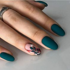 140 flowers nails design trends for spring – page 1 Cute Acrylic Nails, Acrylic Nail Designs, Cute Nails, Nail Art Designs, Nails Design, Colored Acrylic Nails, Design Art, Pink Nails, Gel Nails
