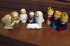 Peg Doll Nativity Patterns - for Shepherds and Wise Men Nativity Peg Doll, Nativity Ornaments, Nativity Crafts, Clothespin Dolls, Christmas Nativity, Kids Christmas, Christmas Ornaments, Nativity Sets, Christmas Bells