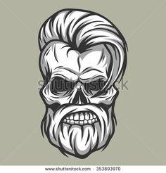 Charismatic skull hipster.