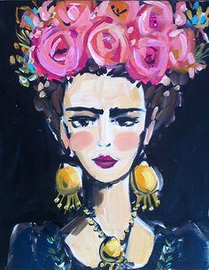 Frida Kahlo retrato grabado gran frida frida arte