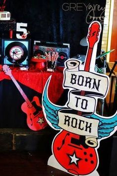 Resultado de imagen para rock and roll 1st birthday inspiration