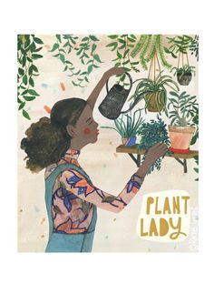 I sent this new illustration off to my agent, Jennifer Nelson, for my portfolio today and also added it as a print to purchase in my etsy… Rachel Grant, Environmental Posters, Sketchbook Inspiration, Plant Illustration, Cool Plants, Watercolor Paper, Cute Art, Lady, Original Art