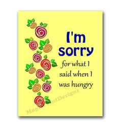 I am sorry Funny Poster minimalist Printable  by MagicPrintDesigns