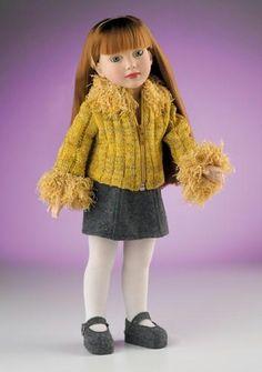"Magic Attic Club Megan Spring Party Dress Yellow Sandals  Doll 16""-18"" New"