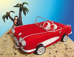 Red Convertible Car Cake