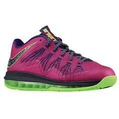 07784cf1716c Nike Air Max Lebron X Low - Men s - Basketball - Shoes - Rasberry Red Court  Purple Flash Lime