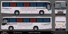 MGBus desenhos: Univale 1960 Onibus Marcopolo, Buses, Paper, Design, Drawings, Miniatures, Busses