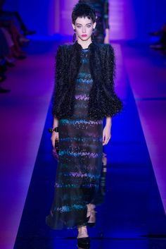 Armani Privé Fall 2015 Couture Fashion Show - Lauren de Graaf (Elite)