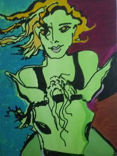 My Cowgirl Days... Acrylic/canvas Dazzio Art Class