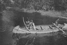 Ojibway hunters in canoe, circa 1920 | Minnesota Historical Society