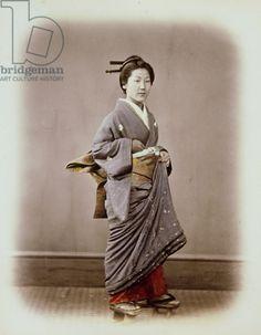 Japanese Woman, Felice Beato, Meiji Period.