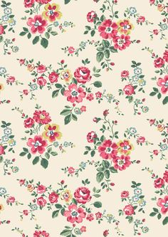 Thorp Flowers   A pretty trailing floral in juicy orchard colours that's the perfect friend to our fruity prints   Cath Kidston AW16  :