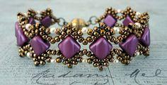 "ESTHER SILKY BRACELET 11/0 seed beads Toho ""Antique Bronze"" (223) 8/0 seed beads Toho ""Antique Bronze"" (223) 8/0 seed beads Miyuki ""..."