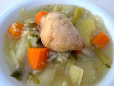 CHICKEN SOUP WITH VEGETABLES Greek Recipes, Chicken Soup, Recipies, Meat, Vegetables, Soups, Food, Recipes, Vegetable Recipes