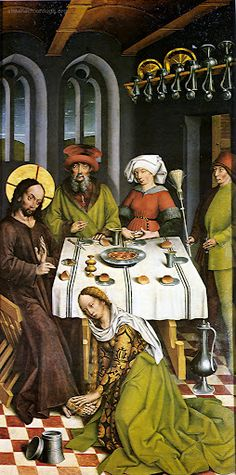 Christus im Haus des Pharisäers Simon, 1462-1465, Herlin Friedrich (um 1430-um 1500) Museum: Städtisches Museum, Nördlingen