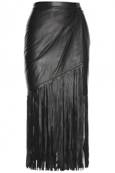Slip into a leather skirt this fall; shop these 12 stylish picks here: Slip into a leather skirt this fall; shop these 12 stylish picks here: Fringe Fashion, Leather Fashion, Look Fashion, Autumn Fashion, Womens Fashion, Luxury Fashion, Dress Skirt, Dress Up, Midi Skirt