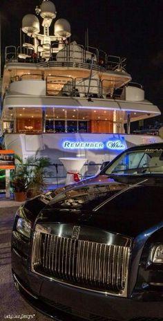 Billionaire's Yacht Club- Rolls Royce to The Yacht- LadyLuxuryDesigns
