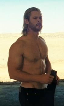 Chris Hemsworth, my goal to bring myself to his level physically.