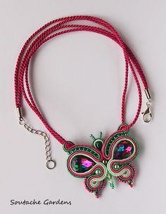 Butterfly - soutache necklace