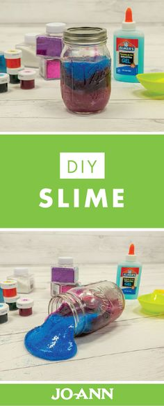 Your kids will be so excited to finally try out this ooey, gooey homemade slime! All you'll need to make this DIY Slime is glue, liquid starch, and glitter—which you can pick up from Jo-Ann.